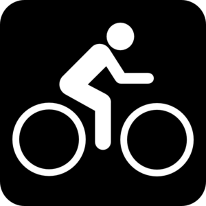 People Who Bike Logo Person on Bike