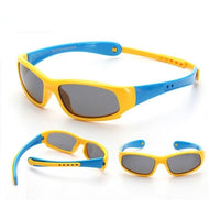 Childrens Flexible Sunglasses Ages 1 to 3 in yellow and blue