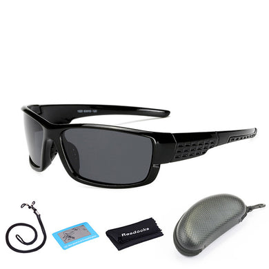 Polarized Cycling Sunglasses in Black with Case