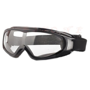 Wind and Dust Resistant Goggles in Black Clear Lense
