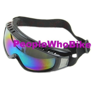Wind and Dust Resistant Goggles Rainbow Lense