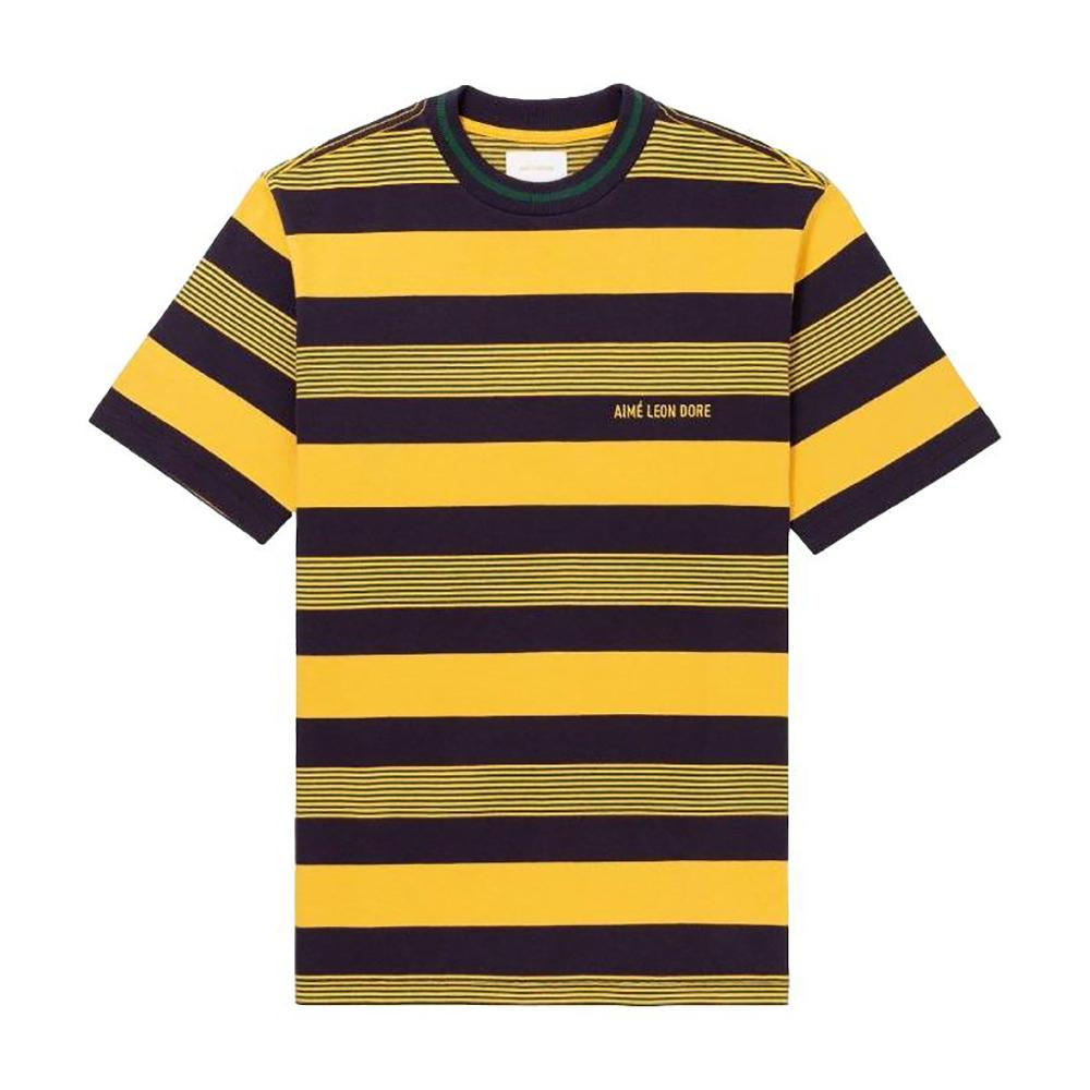 Aime Leon Dore 12 Oz Thin Striped Tee - Yellow