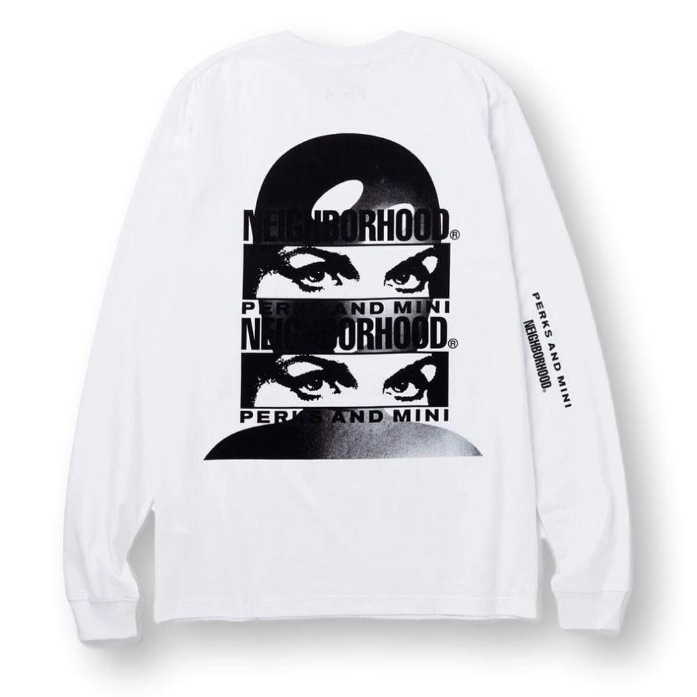 Perks And Mini Ls Tee - Design A - White