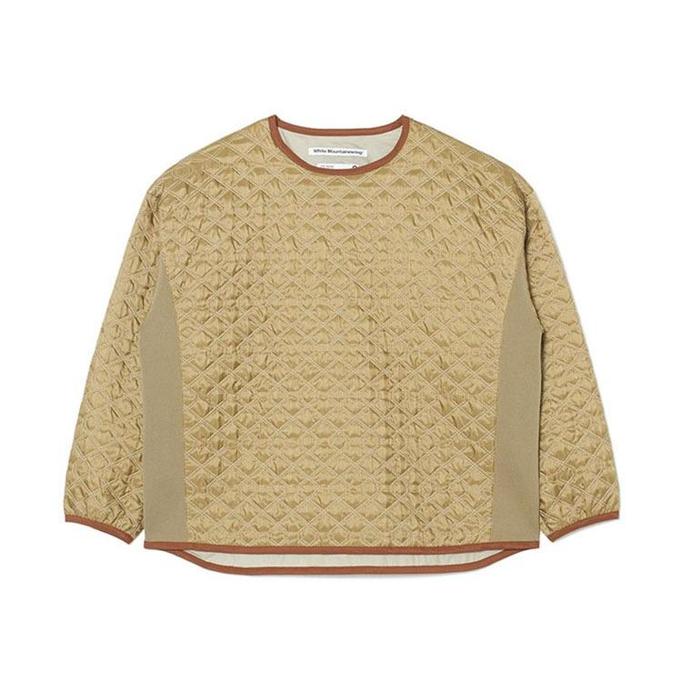 White Mountaineering Quilted Pullover - Cream