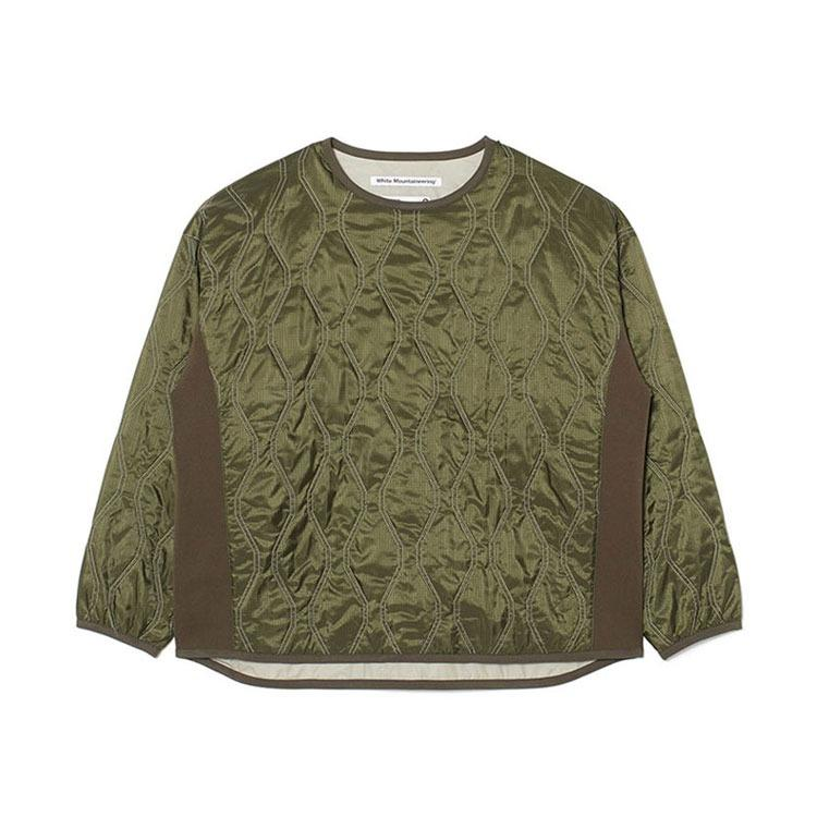 White Mountaineering Quilted Pullover - Khaki