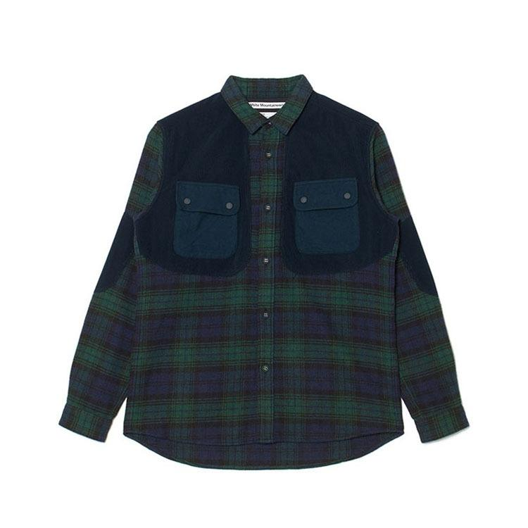 White Mountaineering Big Check Elbow-patch Si - Green