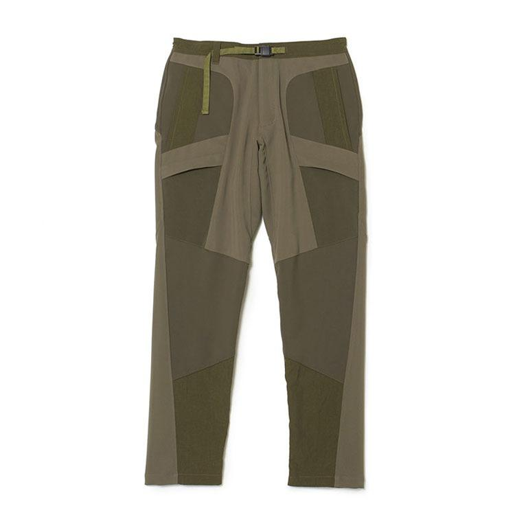 White Mountaineering Patchwork Tech Pants - Khaki