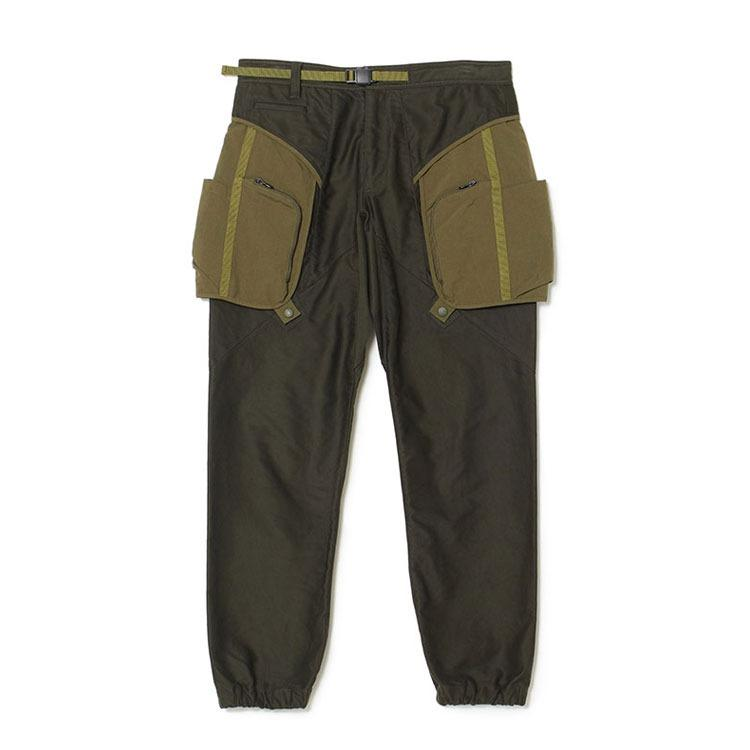 White Mountaineering Moleskin Mixed Pants - Green