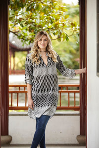 Chevron Shirt /Tunic