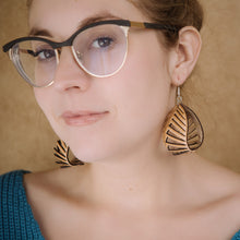 Load image into Gallery viewer, Leather Nautilus Earrings