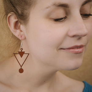 Leather Triangles Earrings