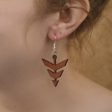 Load image into Gallery viewer, Leather Arrowhead Earrings