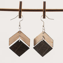 Load image into Gallery viewer, Leather Chevron with Squared Bottom Earring