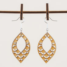 Load image into Gallery viewer, Funky Waves Wooden Earrings