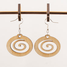 Load image into Gallery viewer, Spiral Wooden Earrings