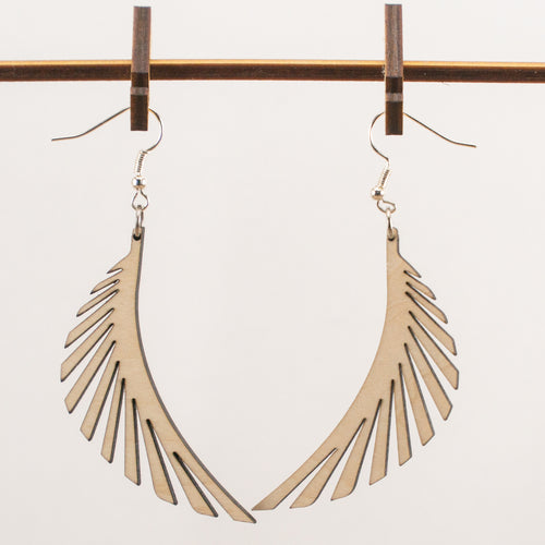 Wings Wooden Earrings