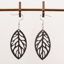 Load image into Gallery viewer, Leafy Leather Earrings