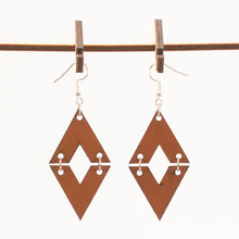 Load image into Gallery viewer, Leather Diamond Earrings