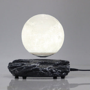 Levitating Moon Lamp With Meteorite Base