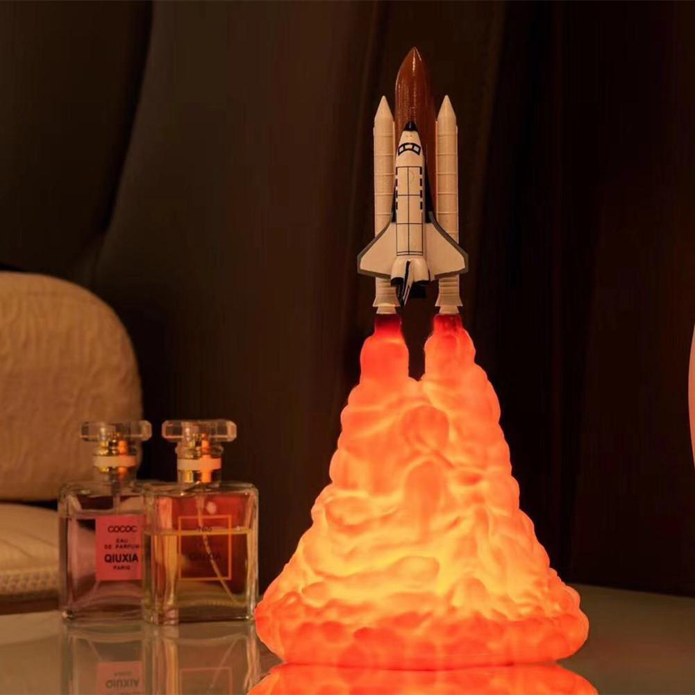 3D Space Shuttle Lamp Rechargeable Moon Night Table lamps