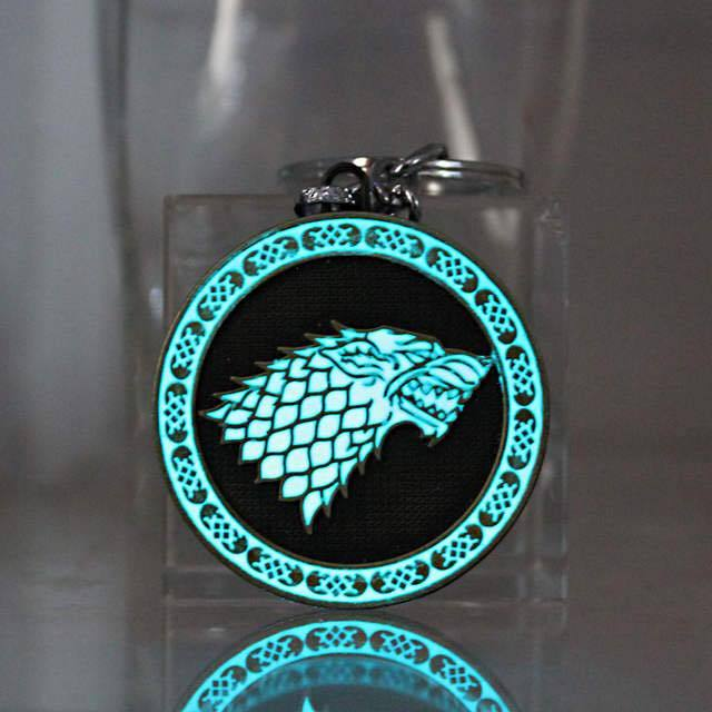 Glow In The Dark Game Of Thrones Keychain