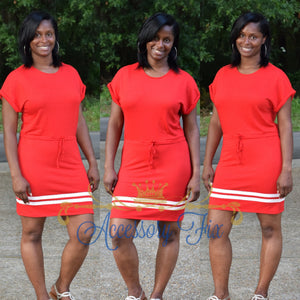 Tennis Dress-Red