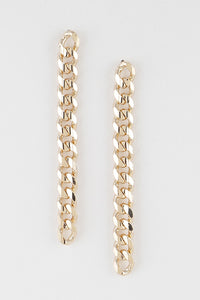 Drop Chain Link Earrings