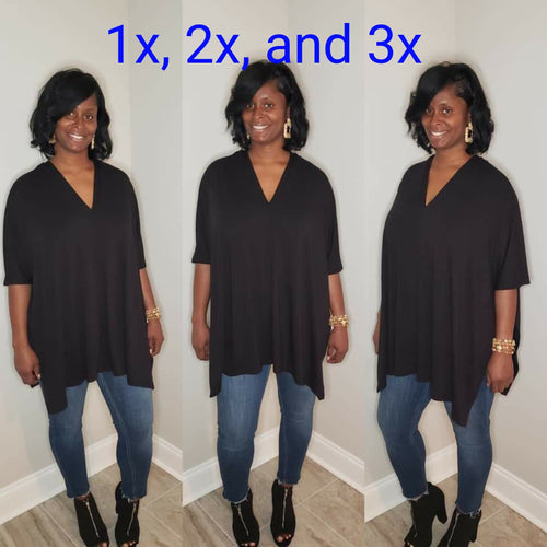 Joi Poncho Top Plus Size