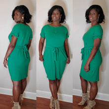 Load image into Gallery viewer, Hailey Tie Dress- Kelly Green