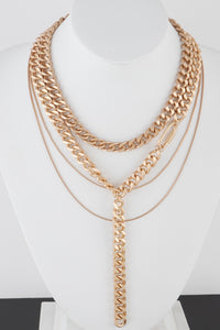 Multi Layered Chain Link Necklace