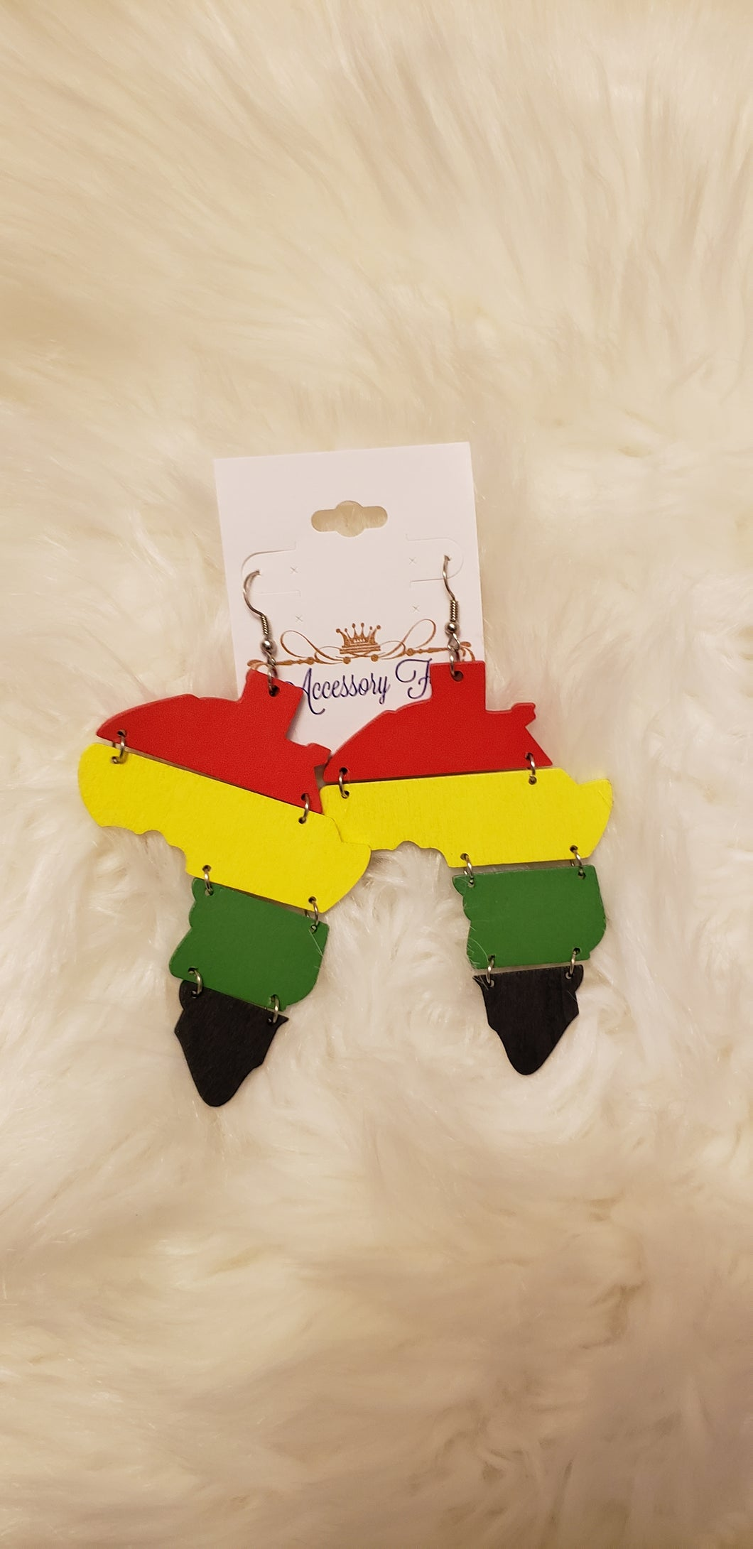African Map Continent Earrings