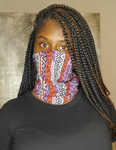 Tribal Print Face Gaiter