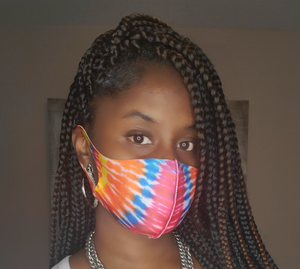 Tie Dye Polyester face covers