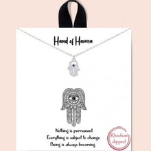 Load image into Gallery viewer, Hand of Hamsa Necklace