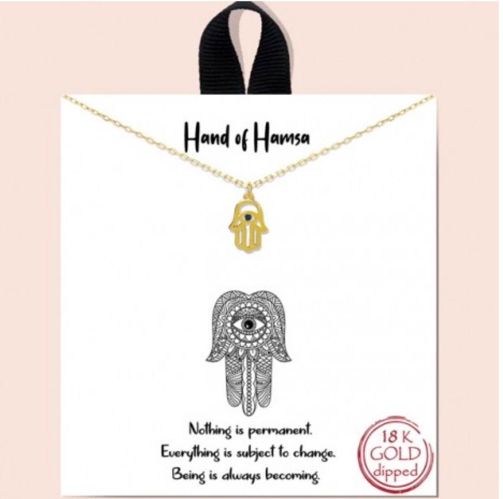 Hand of Hamsa Necklace