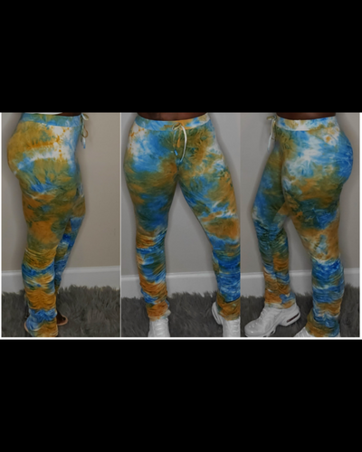 Tie Dye Stacked Joggers