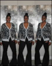 Load image into Gallery viewer, Leopard Print Snap Cardigan-Gray