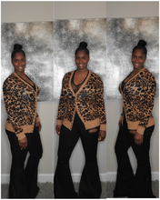 Load image into Gallery viewer, Leopard Print Snap Cardigan-Brown