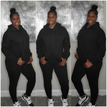 Load image into Gallery viewer, Hoodie Jogger Set-Black