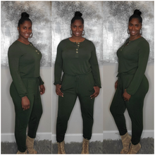 Load image into Gallery viewer, Leilani Jogger Jumpsuit-Olive
