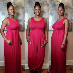 Andrea Maxi Dress- Dark Red