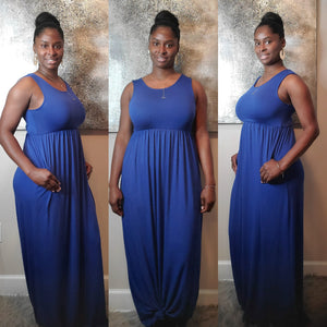 Andrea Maxi Dress- Royal Blue