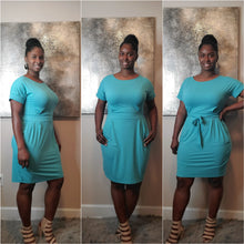 Load image into Gallery viewer, Hailey Tie Dress- Ash Mint