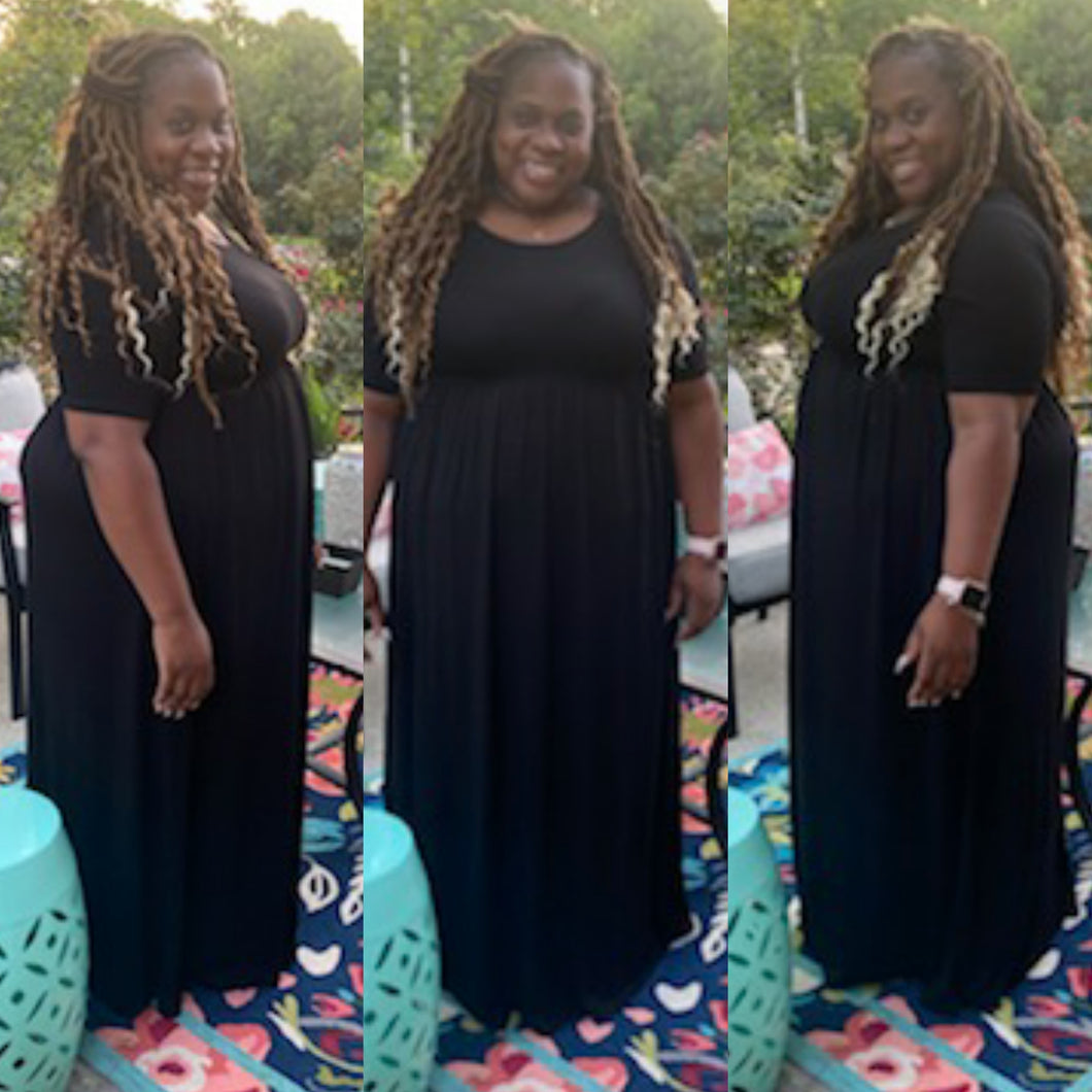 Plus Size Megan Maxi Dress- Black