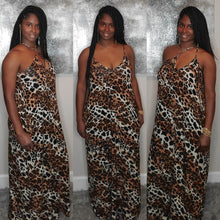 Load image into Gallery viewer, Leopard Spaghetti Strap V-Neck Dress