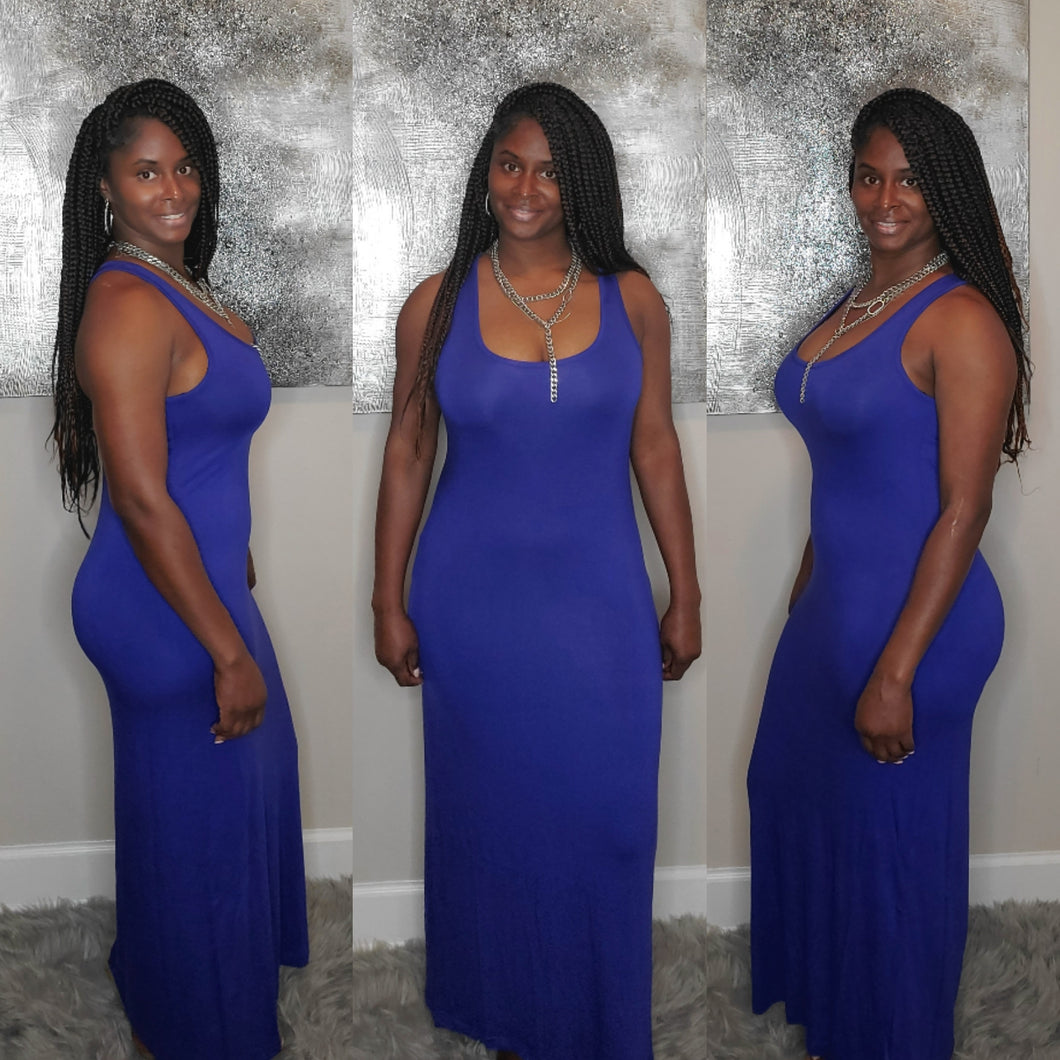 Tank Maxi Dress- Royal Blue