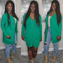 Load image into Gallery viewer, Toya Cardigan ONLY-Kelly green