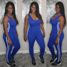 Load image into Gallery viewer, Side Stripe Jumpsuit-Royal blue