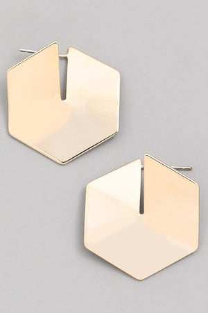 Hexagon Mini Earrings