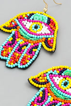 Load image into Gallery viewer, Hamsa Hand Evil Eye Earrings